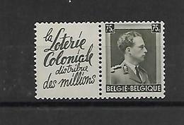 België Pu  124B  Xx Postfris  Cote 44 Euro - Werbung
