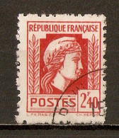 1944 - Série D'Alger - Marianne De Fernez - 2f.40 Vermillon - N°641 - 1944 Hahn Und Marianne D'Alger