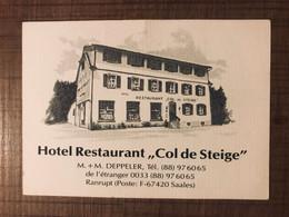 "Hotel Restaurant ""Col De Steige"" - Advertising"
