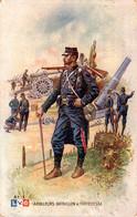 Artilleurs. Bataillon De Forteresse. Dessin De Léon Hingre, 1915 - Oorlog 1914-18