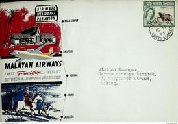 1963 Malasia / North Borneo - Malayan Airways First Flight Kuala Lumpur - Jesselton (Jesselton To Kuching) - Malaysia (1964-...)