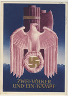2* World War - Nazismo E Fascismo - Annullo Di Vienna Del 20 Aprile 1941 - Rara + Hitler & Chamberlain (4 Images) - Patriottiche