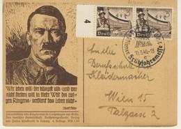 Hitler - 2* World War - Propaganda Viaggiata Il 10 Marzo 1940 (2 Images) - Patriottiche