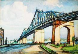 ► PONT JACQUES CARTIER   (Quebec)   - Illustrateur André Morency Montreal (Années 50s) - Montreal