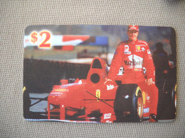 6878 Télécarte Collection  VOITURE Formule1 FERRARI SCHUMACHER   Shell (scans Recto Verso)  Carte Téléphonique - Voitures