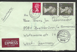 GREAT BRITAIN 1975 Cover Sent To Germany 3 Stamps COVER USED - Storia Postale