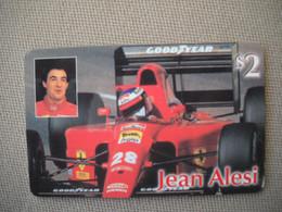 6879 Télécarte Collection  VOITURE Formule1 FERRARI Jean ALESI Goodyear   Shell (scans Recto Verso)  Carte Téléphonique - Voitures