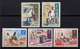 TCHAD - N° 227/231** - MÉTIERS ET ARTISANAT - Tsjaad (1960-...)