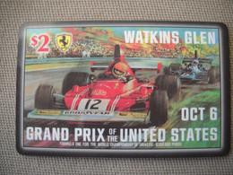 6881 Télécarte Collection  VOITURE Formule1 WATKINS GLEN Grand Prix USA  Circuit (scans Recto Verso)  Carte Téléphonique - Voitures