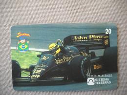 6884 Télécarte Collection  VOITURE Formule1   John Player AYRTON SENNA Institut (scans Recto Verso)  Carte Téléphonique - Voitures