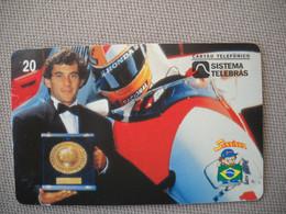 6885 Télécarte Collection  VOITURE Formule1 AYRTON SENNA Institut Honda (scans Recto Verso)  Carte Téléphonique - Voitures