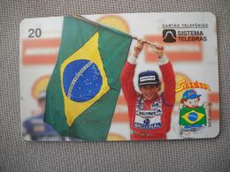 6886 Télécarte Collection  VOITURE Formule1 AYRTON SENNA Institut Honda (scans Recto Verso)  Carte Téléphonique - Voitures