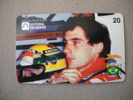6887 Télécarte Collection  VOITURE Formule1 AYRTON SENNA Institut Honda (scans Recto Verso)  Carte Téléphonique - Voitures