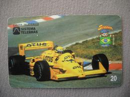 6888 Télécarte Collection  VOITURE Formule1 AYRTON SENNA LOTUS   (scans Recto Verso)  Carte Téléphonique - Voitures