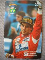 6889 Télécarte Collection  VOITURE Formule1 AYRTON SENNA Goodyear   (scans Recto Verso)  Carte Téléphonique - Voitures