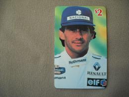 6890 Télécarte Collection  VOITURE Formule1 AYRTON SENNA Rothmans RENAULT ELF   (scans Recto Verso)  Carte Téléphonique - Voitures