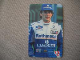 6891 Télécarte Collection  VOITURE Formule1 AYRTON SENNA Rothmans RENAULT ELF   (scans Recto Verso)  Carte Téléphonique - Voitures