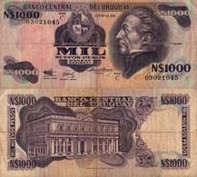 Uruguay / 1.000 Pesos / 1992 / P-64A(b) / FI - Uruguay
