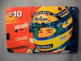 6892 Télécarte Collection  VOITURE Formule1 HONDA ( AYRTON SENNA ??)   (scans Recto Verso)  Carte Téléphonique - Voitures