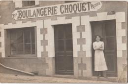 Carte Photo   Moisdon La Rivière   (44)  La Boulangerie Choquet   Son Et Recoupes - Berufe