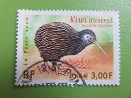 Timbre France YT 3360 - Faune En Voie De Disparition - Kiwi Austral - 2000 - Used Stamps