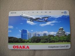 6896 Télécarte Collection  AVION OSAKA (AIRPORT)    (scans Recto Verso)  Carte Téléphonique - Aerei