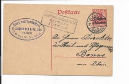 Dt. Bes.geb 14-18 Belgien P 2 - 10 Ctm Germania V. Namur N. Bonn M. Zensur Bedarfsverwendet - Non Classés