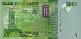 Uganda (BOU) 5000 Shillings 2015 UNC Cat No. P-51d / UG156d - Uganda