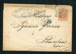 Belle Lettre De Marseille Pour Barcelone ( 1863 ) Avec Un N° 23 - 1849-1876: Classic Period