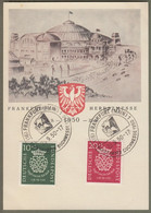 "Bund: Sonderkarte Mit Mi.-Nr. 121-22 SST, Johann Sebastian Bach: "" Frankfurter Herbstmesse 1950 ""     X - Storia Postale"