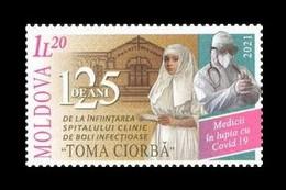 Moldova 2021 Mih. 1155 Fight Against COVID-19 Coronavirus. Clinical Hospital For Infectious Diseases MNH ** - Moldova