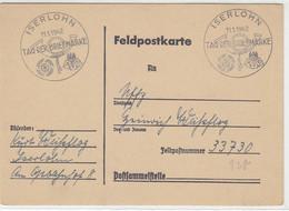 Feldpost Vom Tag Der Briefmarke Aus ISERLOHN 11.1.42 An FP 33730 - Brieven En Documenten