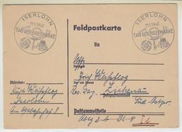 Feldpost Vom Tag Der Briefmarke Aus ISERLOHN 11.1.42 An Res. Lazrett Zichenau Süd-Ostpreussen - Covers & Documents