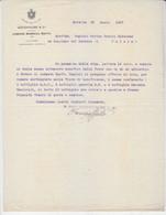 "Lettera ""Ditta Woodhouse Marsala 1907""-Italy Italia - Documenti Storici"