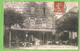 ANG178  CPA  CABOURG   (Calvados)  L'Avenue De La Mer - Restaurant Parisien M. VECHIALI  ++++++ - Cabourg