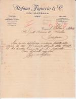 """Lettera """"Ditta Stefano Figuccio Trapani 1921""""-Italy Italia - Documenti Storici"""