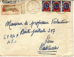 1947- Enveloppe RECC. De BORDJ Des BENI HINDEL / ALGER  Affr.   à 13,50 F - Covers & Documents