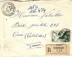 1951- Enveloppe RECC. De ZIAMA MANSOURIA / CONSTANTINE    Affr.   Ae à 50 F - Covers & Documents