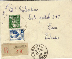 1948- Enveloppe RECC. De  LOURMEL / ORAN    Affr.    à  9 F - Covers & Documents