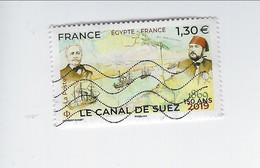 150ème Anniversaire De La Construction Du Canal De Suez 5347 Oblitéré - Gebruikt