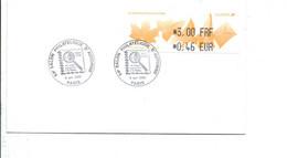 VIGNETTE 0.46 SALON PHILATELIQUE D'AUTOMNE PARIS 2000 - 1999-2009 Illustrated Franking Labels