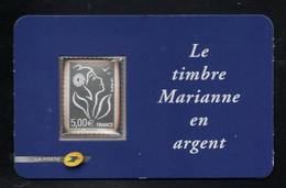 France YT 85 Adhésif Dans Son Blister Non Ouvert Marianne De Lamouche Argent 999 Millièmes à 5 Euros - Nuevos