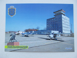 Ukraine. Khmelnytskyi  Airport With Airplane From Set - Aerodromes