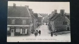 50 - QUETTREVILLE - LA RUE DE L'EGLISE PRISE DU CHATEAU - Other Municipalities