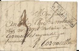 Oise-58 -Cachet Fevrier 1828, Beauvais, Ind 23 ,Signé Pothion - ....-1700: Voorlopers