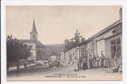 CP 55 HERBEUVILLE Un Coin De La Place - Other Municipalities