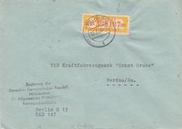 Allemagne - République Démocratique - Lettre De 1958 - Oblit Berlin - Exp Vers Werdau - Briefe U. Dokumente