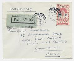 MADAGASCAR  FRANCE LIBRE 10FR SEUL LETTRE AVION TANANARIVE 1947 POUR SUISSE + TRANSPORT PAR AVION EFFECTUE - Covers & Documents