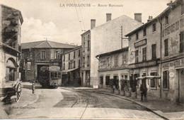 La Fouillouse CPA Tramway Route Nationale - Sonstige Gemeinden
