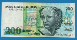 BRASIL    200 Cruzeiros    ND (1990) # A06320..A  P# 229 - Brazil